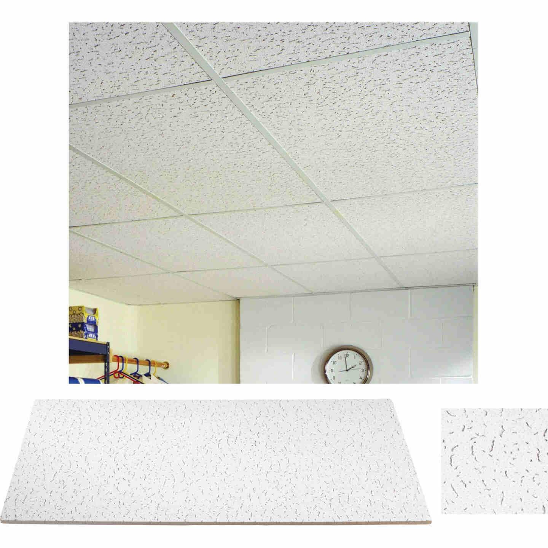 Fifth Avenue 2 Ft. x 4 Ft. White Mineral Fiber Square Edge Ceiling Tile (8-Count) Image 1