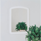 Erias Home Designs Macau 16 In. W. x 22 In. H. White Framed Wall Mirror Image 2