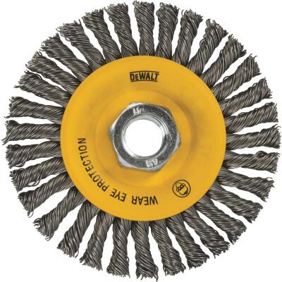 DeWalt High Performance 6 In. Carbon Stringer Bead Angle Grinder Wire Wheel