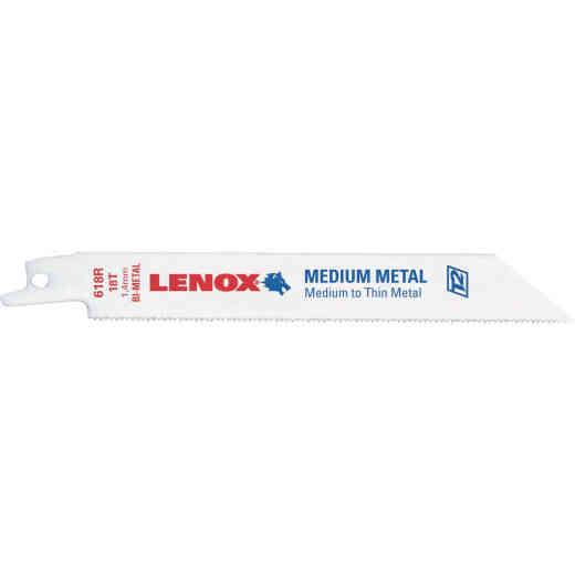 Lenox 6 In. 18 TPI Medium Metal Reciprocating Saw Blade (5-Pack)