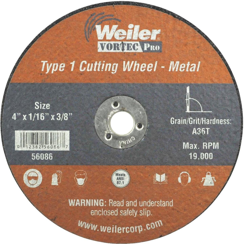Weiler Vortec 4 In. Type 1 Cut-Off Wheel Image 1