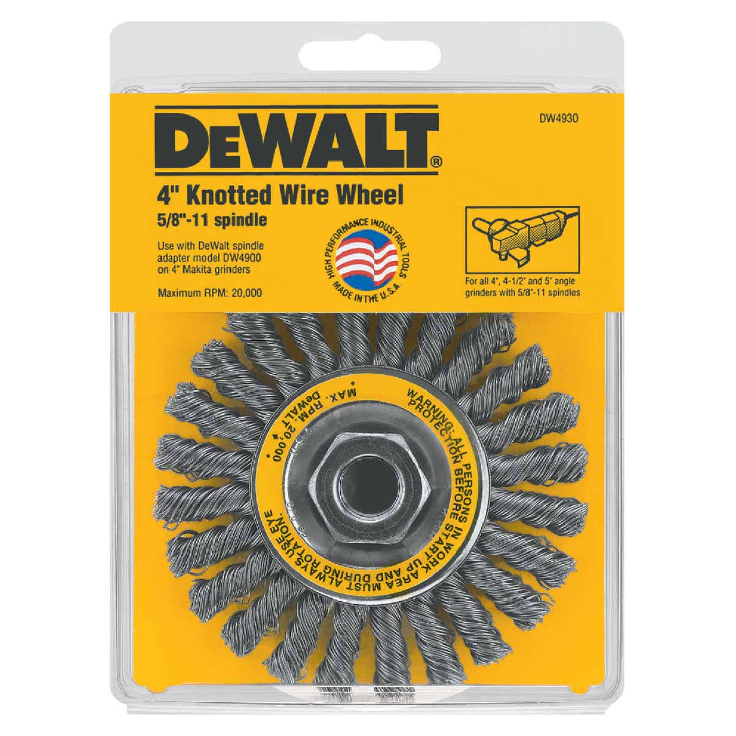 DeWalt 4 In. Cable Twist 0.020 In. Angle Grinder Wire Wheel Image 2