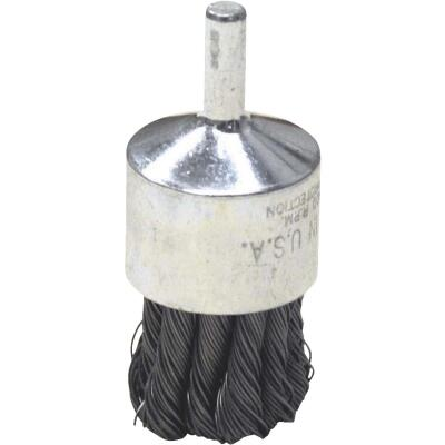 Weiler Vortec 1 In. Professional Shank-Mounted Drill-Mounted Wire Brush