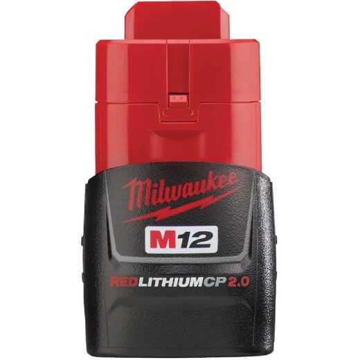 Milwaukee M12 REDLITHIUM 12 Volt Lithium-Ion CP 2.0 Ah Tool Battery