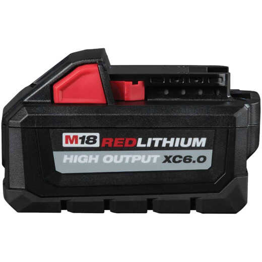 Milwaukee M18 REDLITHIUM 18 Volt Lithium-Ion 6.0 Ah High Output XC Tool Battery