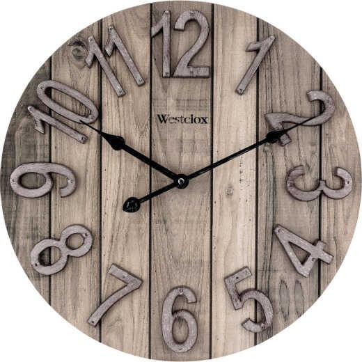 Westclox 15.5 In. Wood Grain Wall Clock