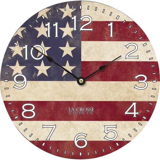 La Crosse Technology USA Flag Wall Clock