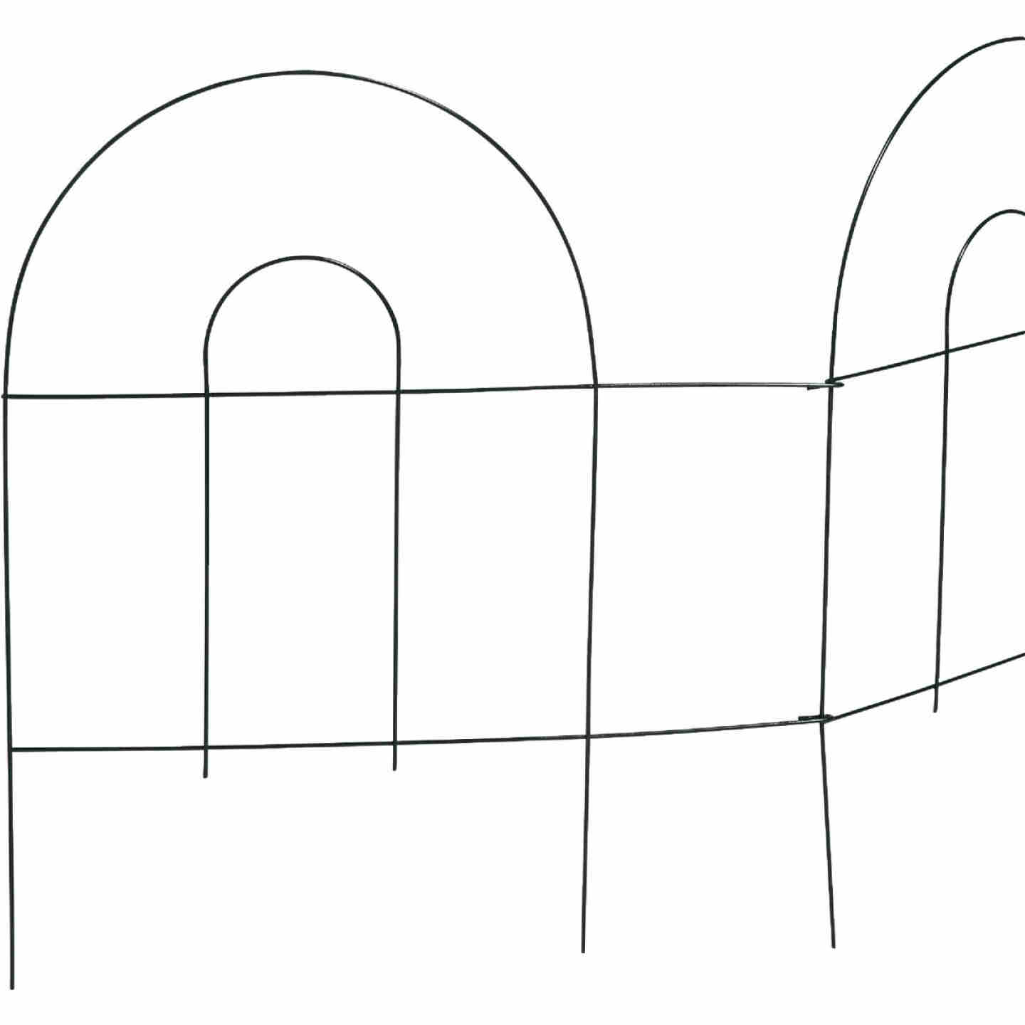 Best Garden 8 Ft. Powder-Coated Green Wire Folding Fence Image 4